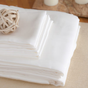 White silk sheets