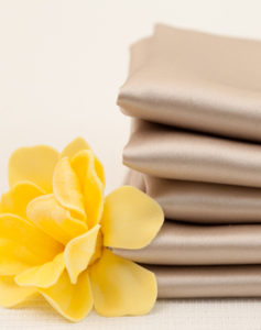 beige silk pillowcases